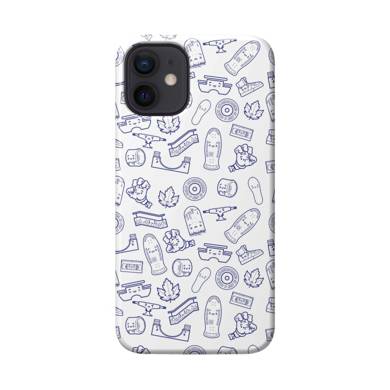 Skateboarding Is Not A Crime – White Pattern Accessories Phone Case by Bálooie's Artist Shop
