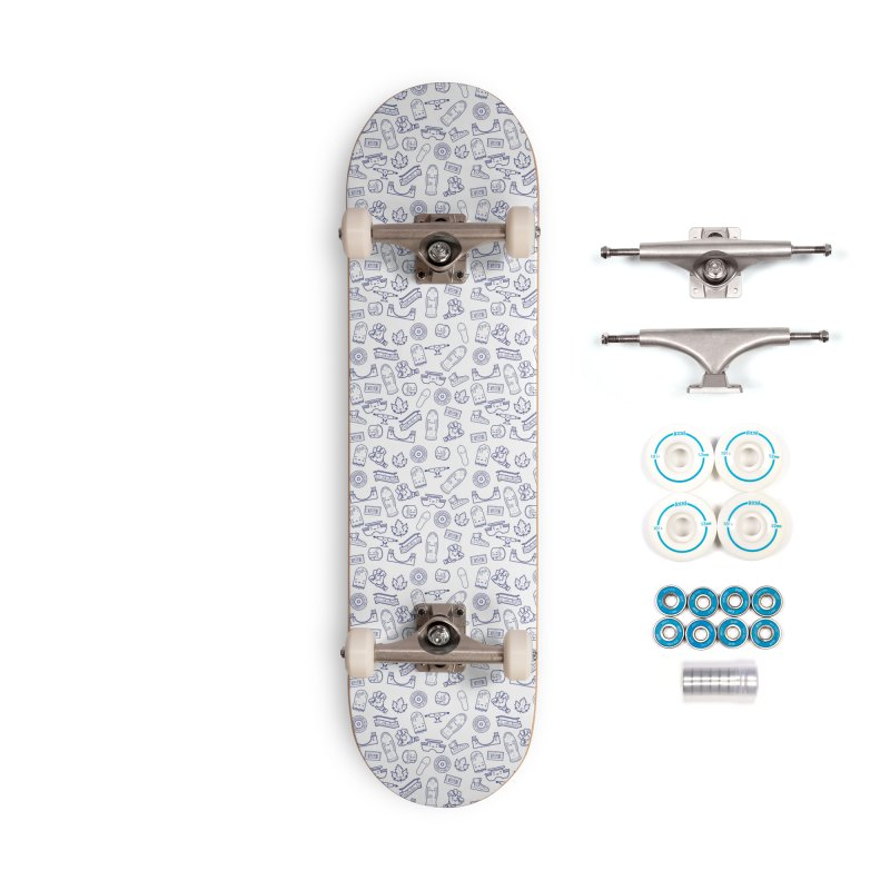 Skateboarding Is Not A Crime – White Pattern Accessories Skateboard by Bálooie's Artist Shop