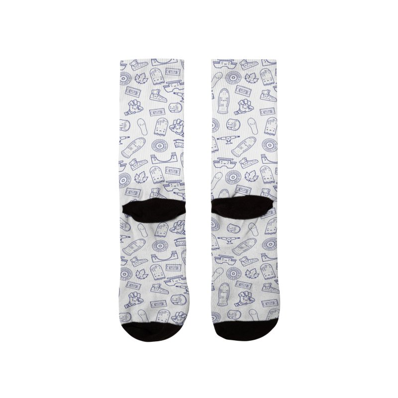Skateboarding Is Not A Crime – White Pattern Men's Socks by Bálooie's Artist Shop