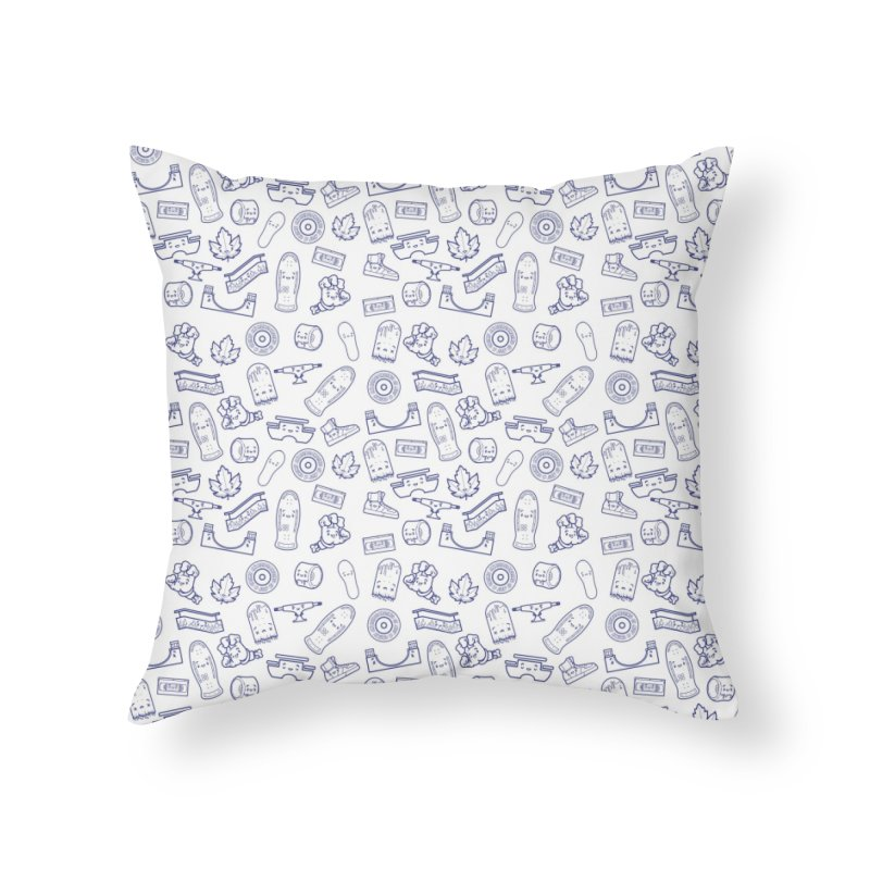 Skateboarding Is Not A Crime – White Pattern Home Throw Pillow by Bálooie's Artist Shop