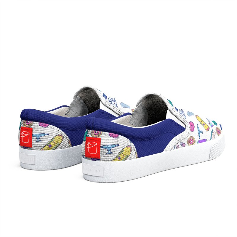 Skateboarding Is Not A Crime – Colorful Pattern Men's Shoes by Bálooie's Artist Shop