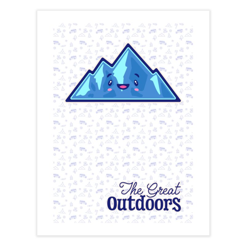 The Great Outdoors Sticker Collection – Mountains Home Fine Art Print by Bálooie's Artist Shop