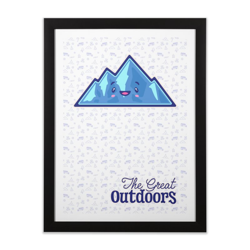 The Great Outdoors Sticker Collection – Mountains Home Framed Fine Art Print by Bálooie's Artist Shop