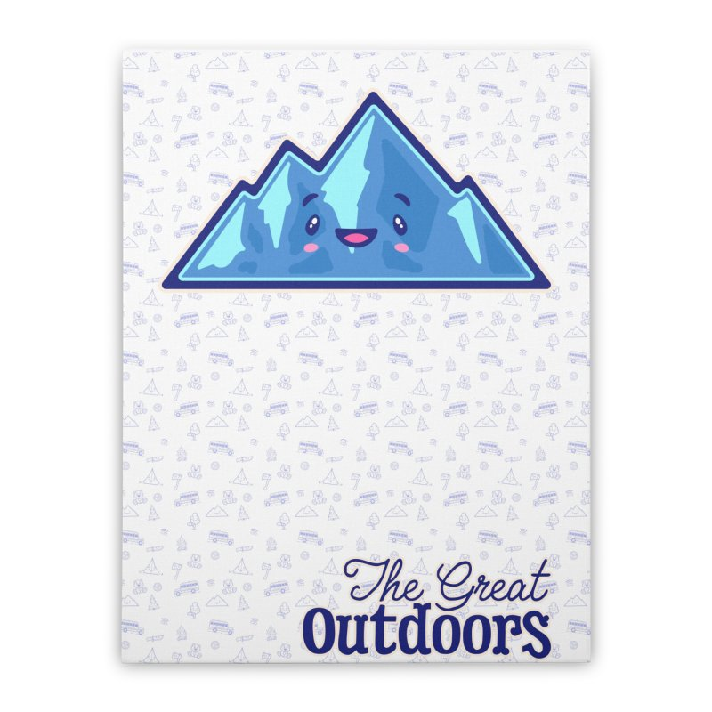 The Great Outdoors Sticker Collection – Mountains Home Stretched Canvas by Bálooie's Artist Shop