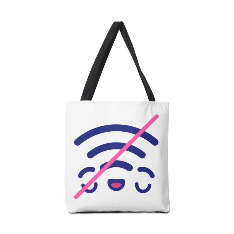 The Great Outdoors Sticker Collection – No WiFi Accessories Bag by Bálooie's Artist Shop