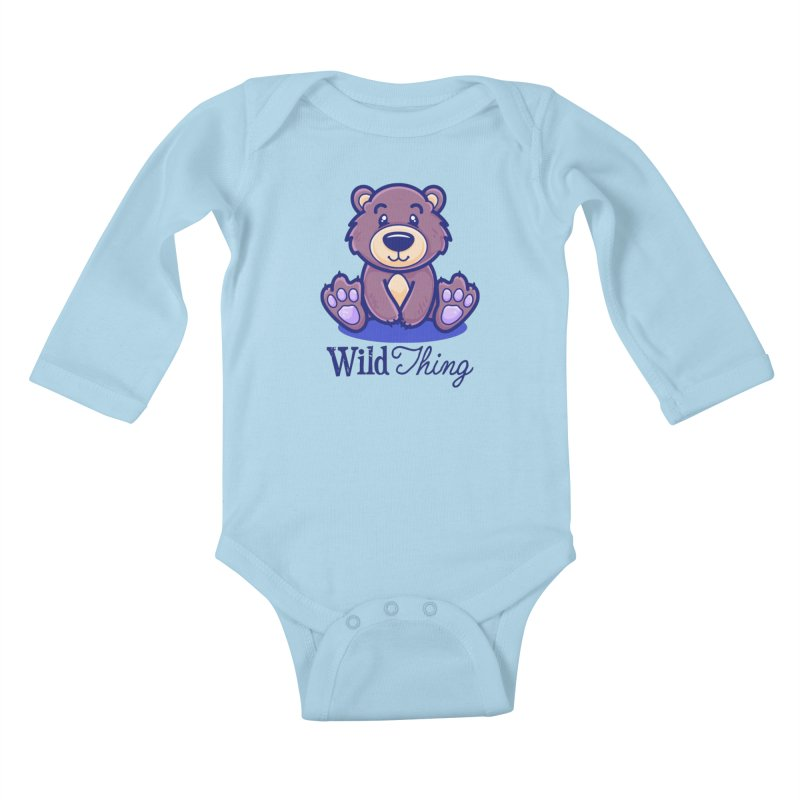 The Great Outdoors – Wild Thing Kids Baby Longsleeve Bodysuit by Bálooie's Artist Shop