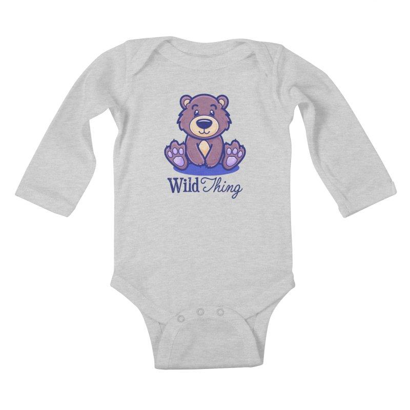 The Great Outdoors – Wild Thing Kids Baby Longsleeve Bodysuit by Bálooie's Artist Shop