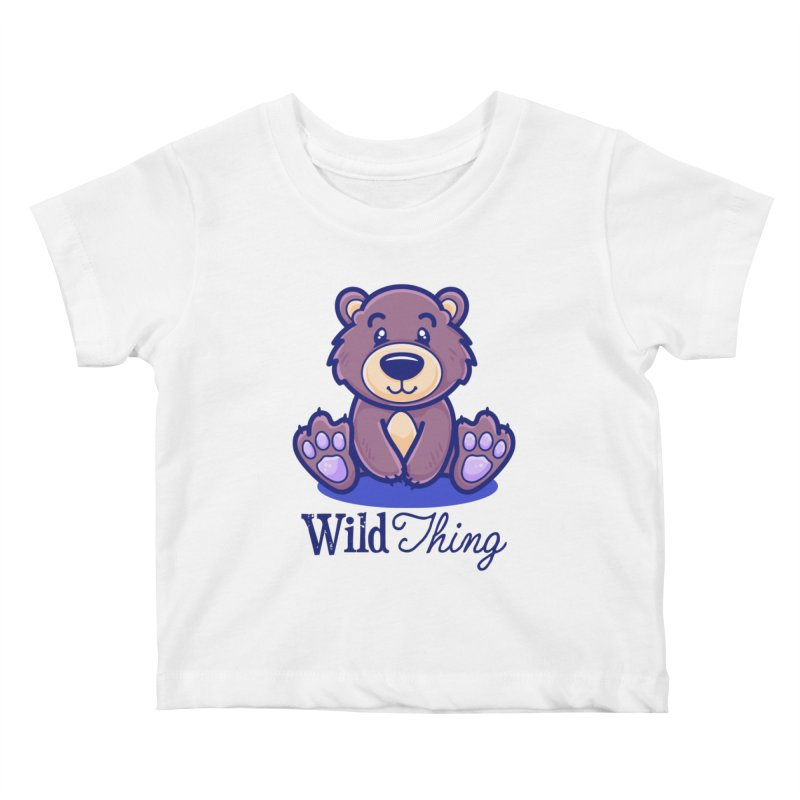 The Great Outdoors – Wild Thing Kids Baby T-Shirt by Bálooie's Artist Shop