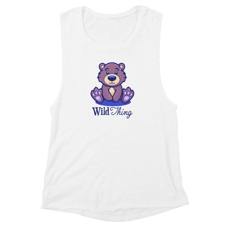The Great Outdoors – Wild Thing Women's Muscle Tank by Bálooie's Artist Shop
