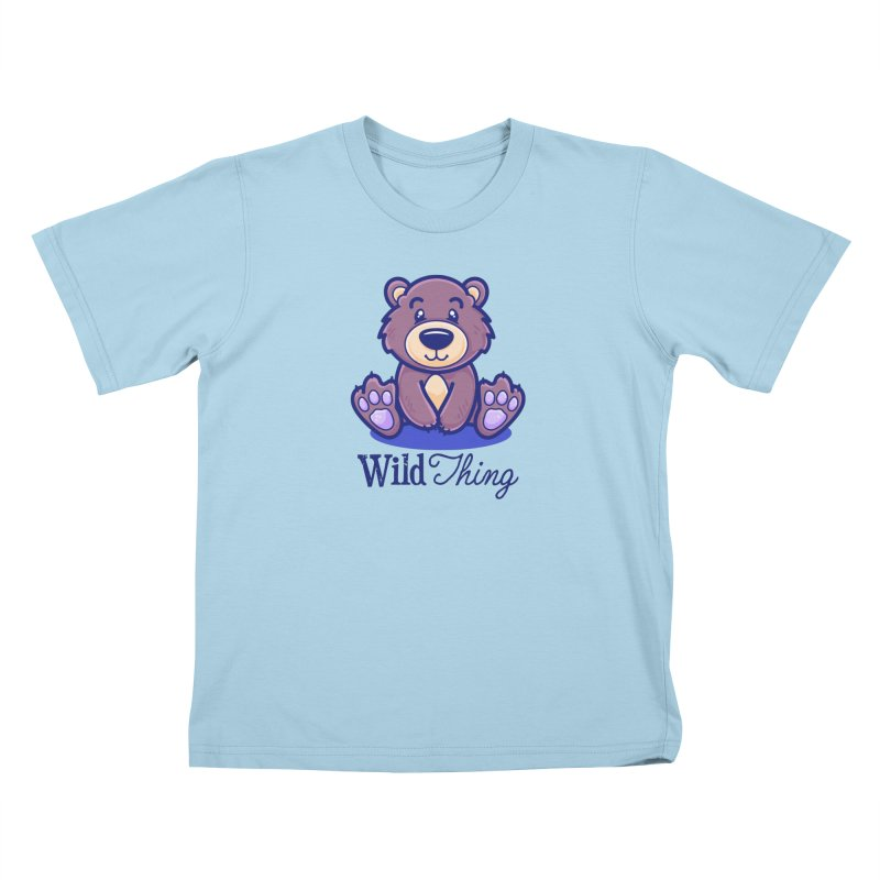 The Great Outdoors – Wild Thing Kids T-Shirt by Bálooie's Artist Shop