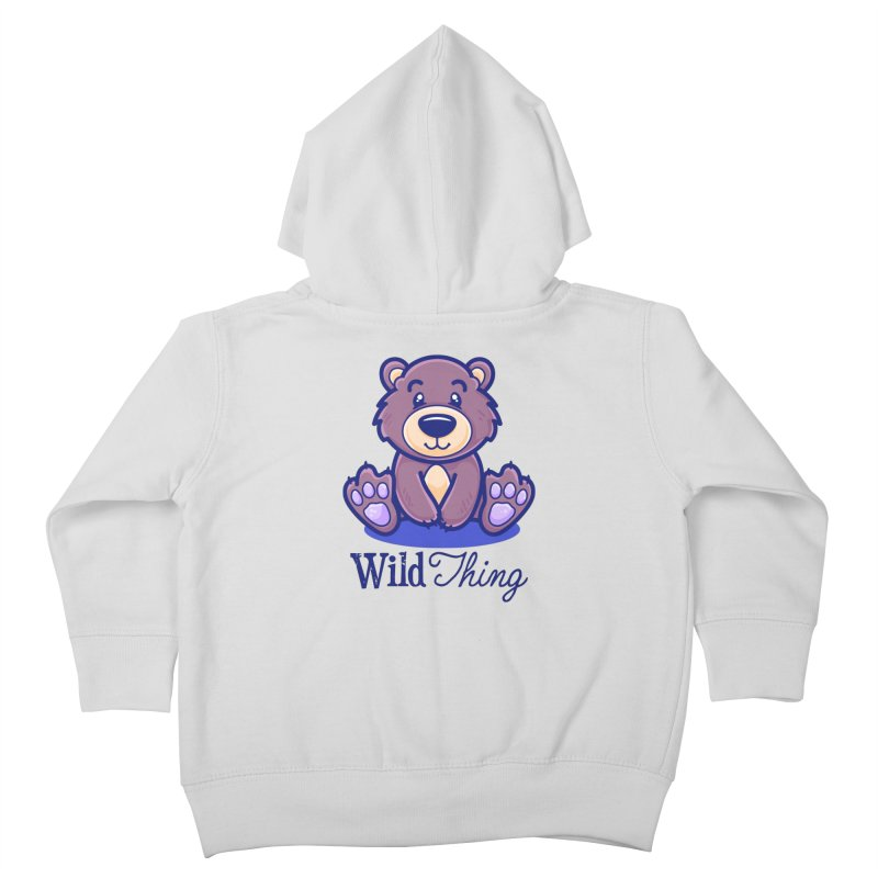 The Great Outdoors – Wild Thing Kids Toddler Zip-Up Hoody by Bálooie's Artist Shop