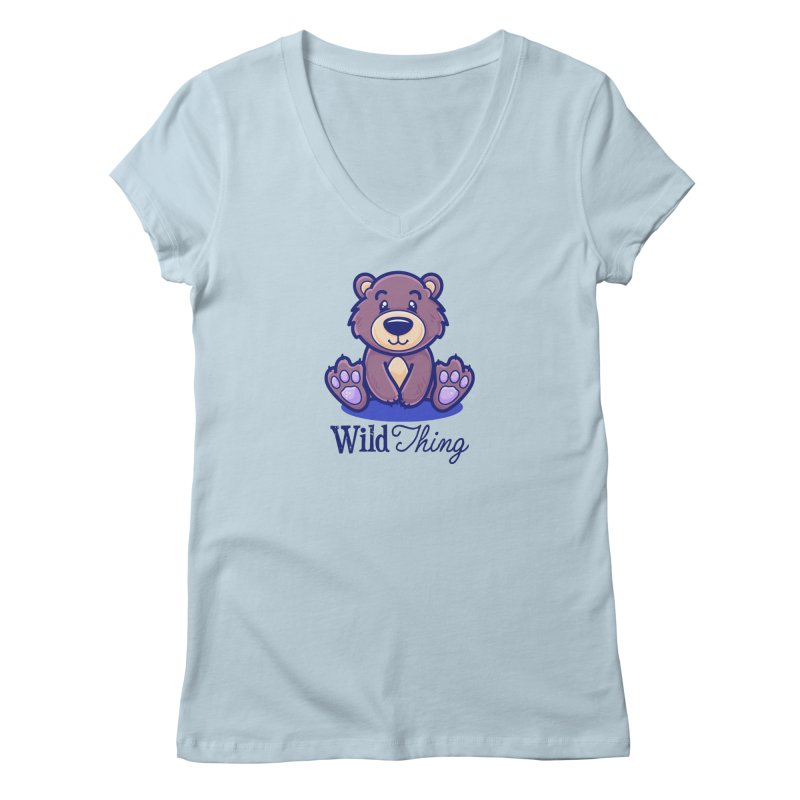 The Great Outdoors – Wild Thing Women's V-Neck by Bálooie's Artist Shop