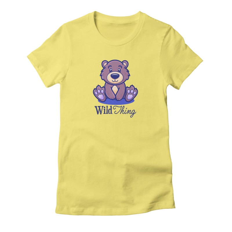The Great Outdoors – Wild Thing Women's Fitted T-Shirt by Bálooie's Artist Shop