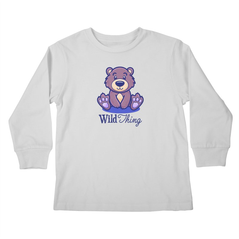 The Great Outdoors – Wild Thing Kids Longsleeve T-Shirt by Bálooie's Artist Shop