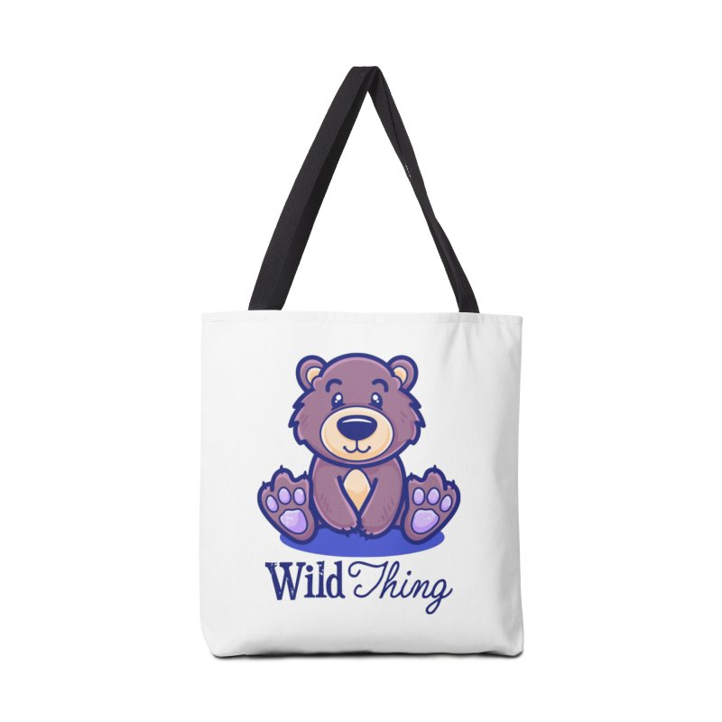 The Great Outdoors – Wild Thing Accessories Tote Bag Bag by Bálooie's Artist Shop
