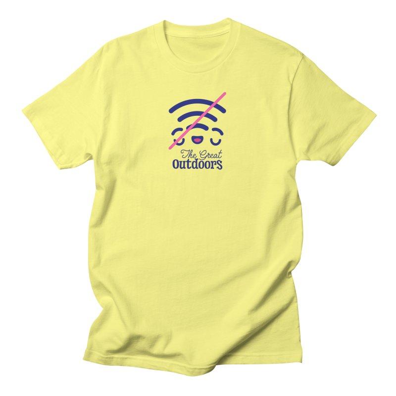 The Great Outdoors – No Signal Women's T-Shirt by Bálooie's Artist Shop
