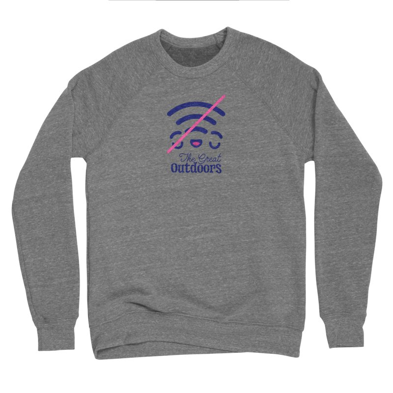 The Great Outdoors – No Signal Women's Sweatshirt by Bálooie's Artist Shop