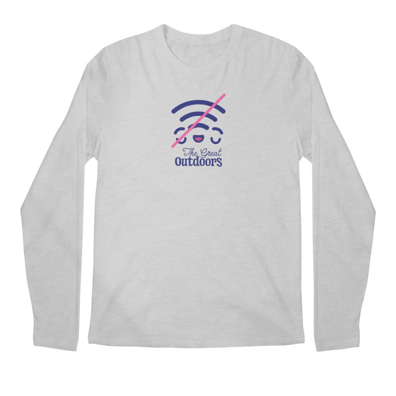 The Great Outdoors – No Signal Men's Regular Longsleeve T-Shirt by Bálooie's Artist Shop