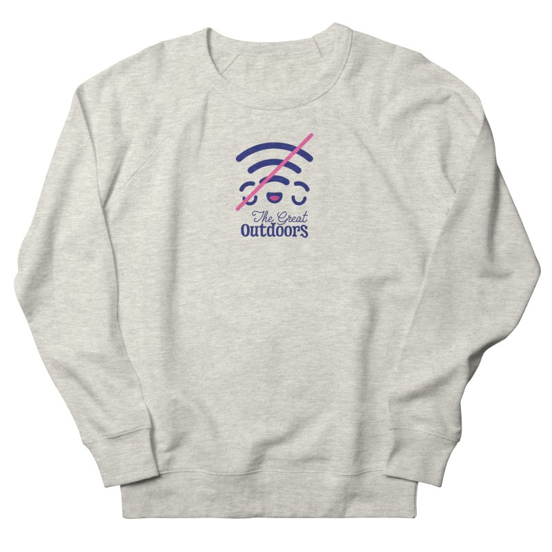 The Great Outdoors – No Signal Men's French Terry Sweatshirt by Bálooie's Artist Shop