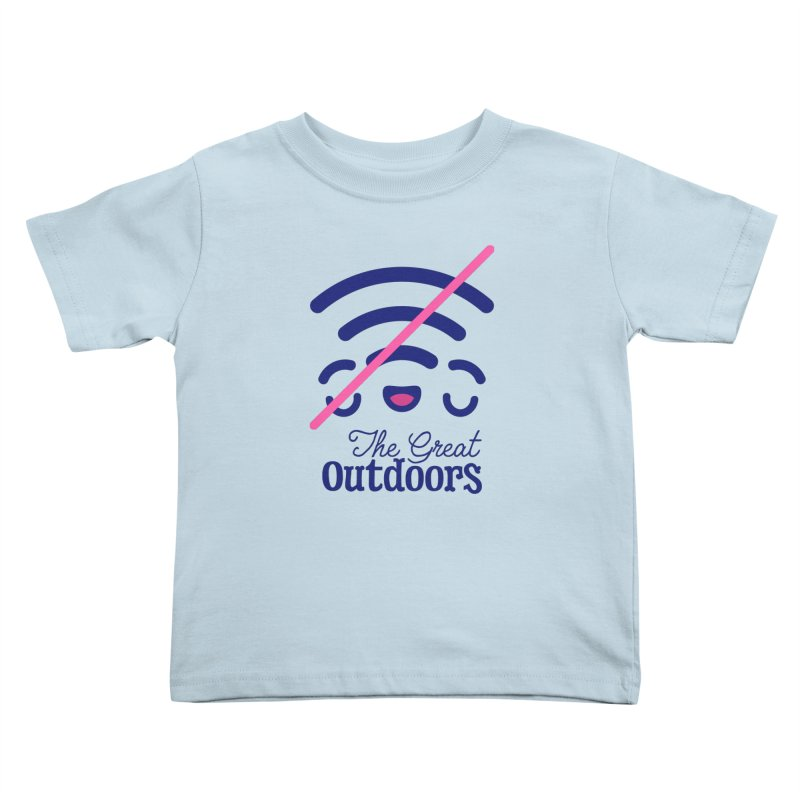 The Great Outdoors – No Signal Kids Toddler T-Shirt by Bálooie's Artist Shop