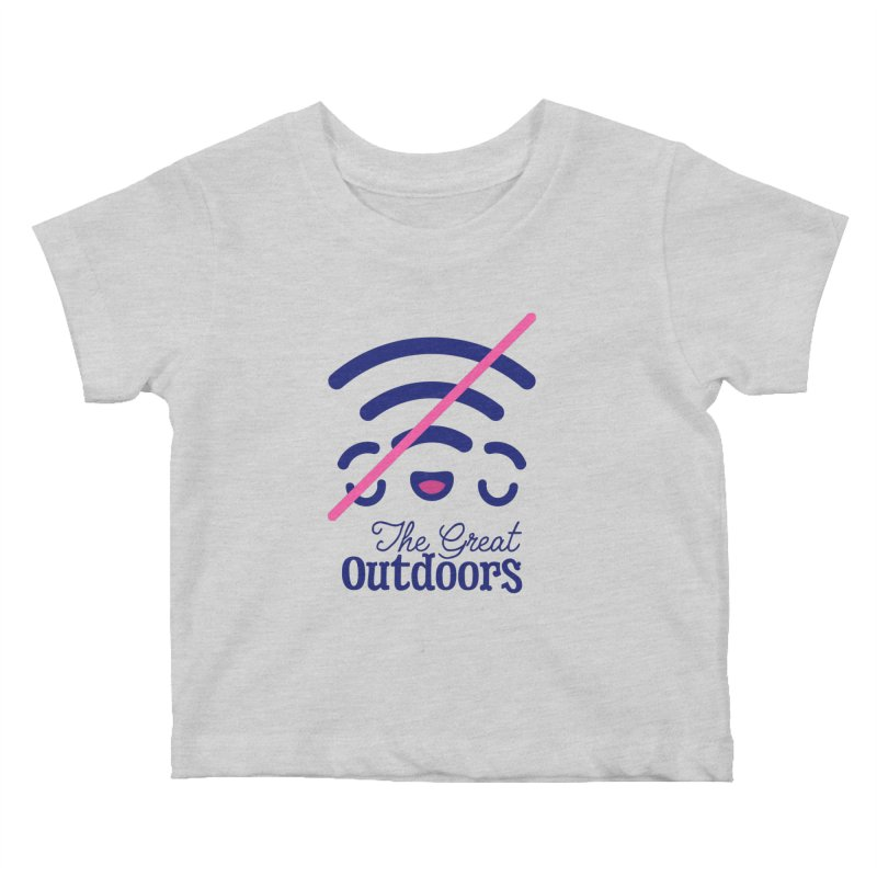 The Great Outdoors – No Signal Kids Baby T-Shirt by Bálooie's Artist Shop