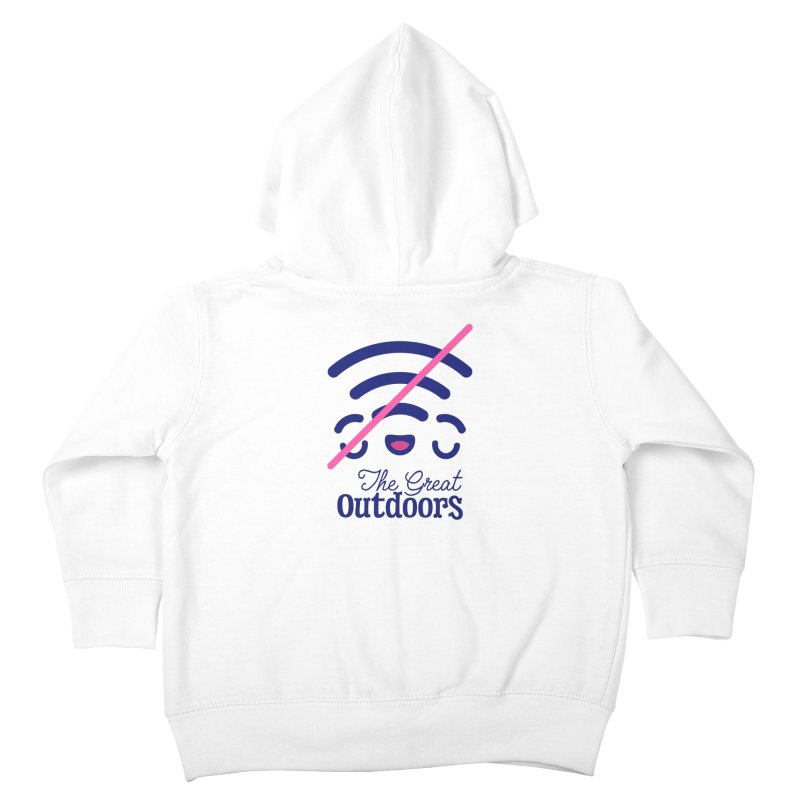 The Great Outdoors – No Signal Kids Toddler Zip-Up Hoody by Bálooie's Artist Shop