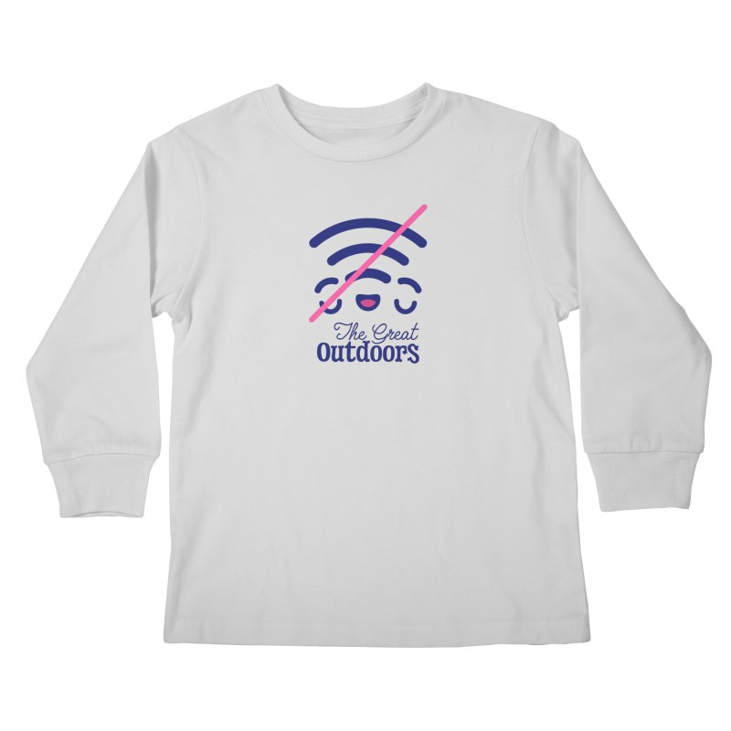 The Great Outdoors – No Signal Kids Longsleeve T-Shirt by Bálooie's Artist Shop