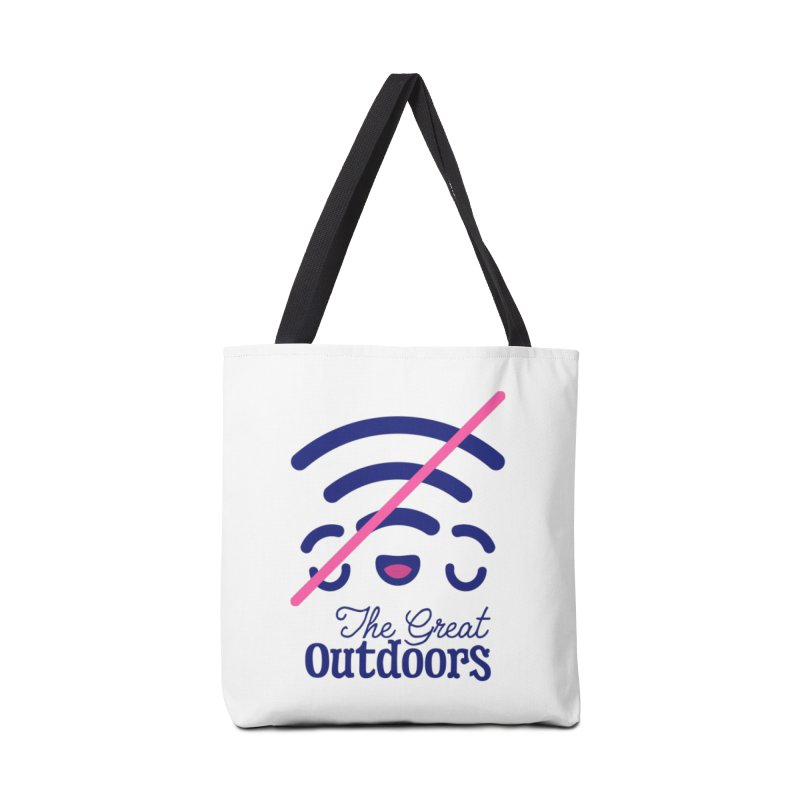 The Great Outdoors – No Signal Accessories Bag by Bálooie's Artist Shop