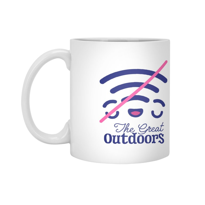 The Great Outdoors – No Signal Accessories Mug by Bálooie's Artist Shop