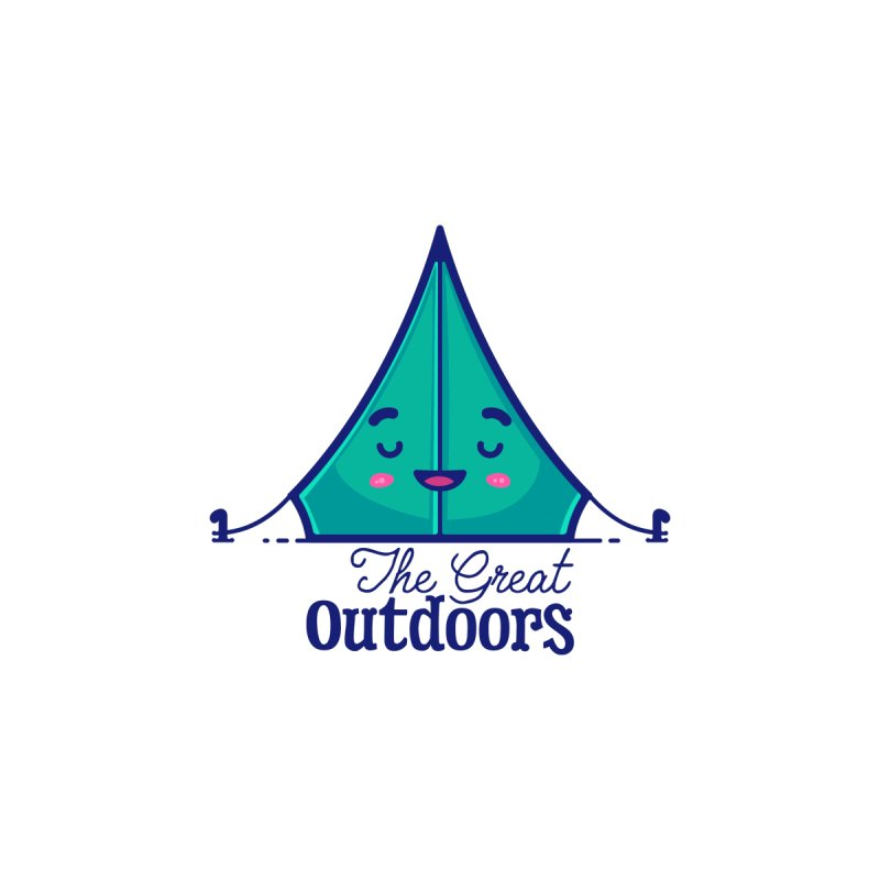 The Great Outdoors – Tent Kids T-Shirt by Bálooie's Artist Shop