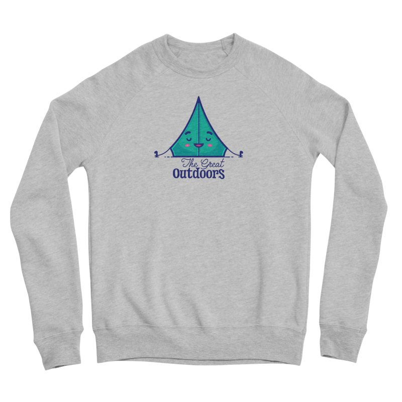The Great Outdoors – Tent Men's Sweatshirt by Bálooie's Artist Shop