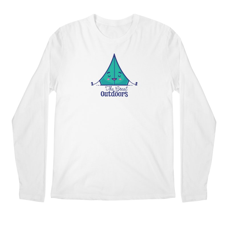The Great Outdoors – Tent Men's Regular Longsleeve T-Shirt by Bálooie's Artist Shop