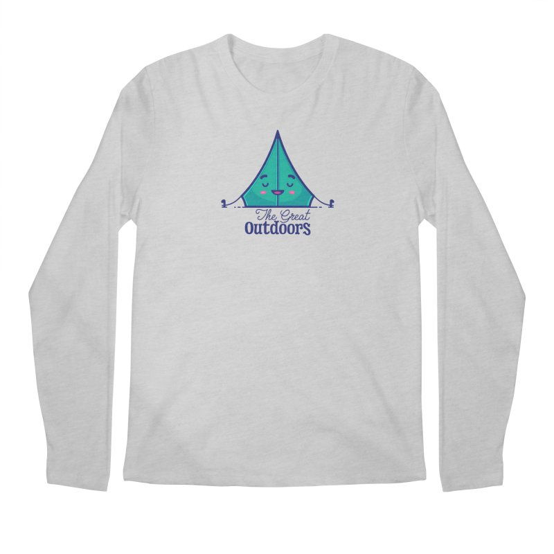 The Great Outdoors – Tent Men's Longsleeve T-Shirt by Bálooie's Artist Shop