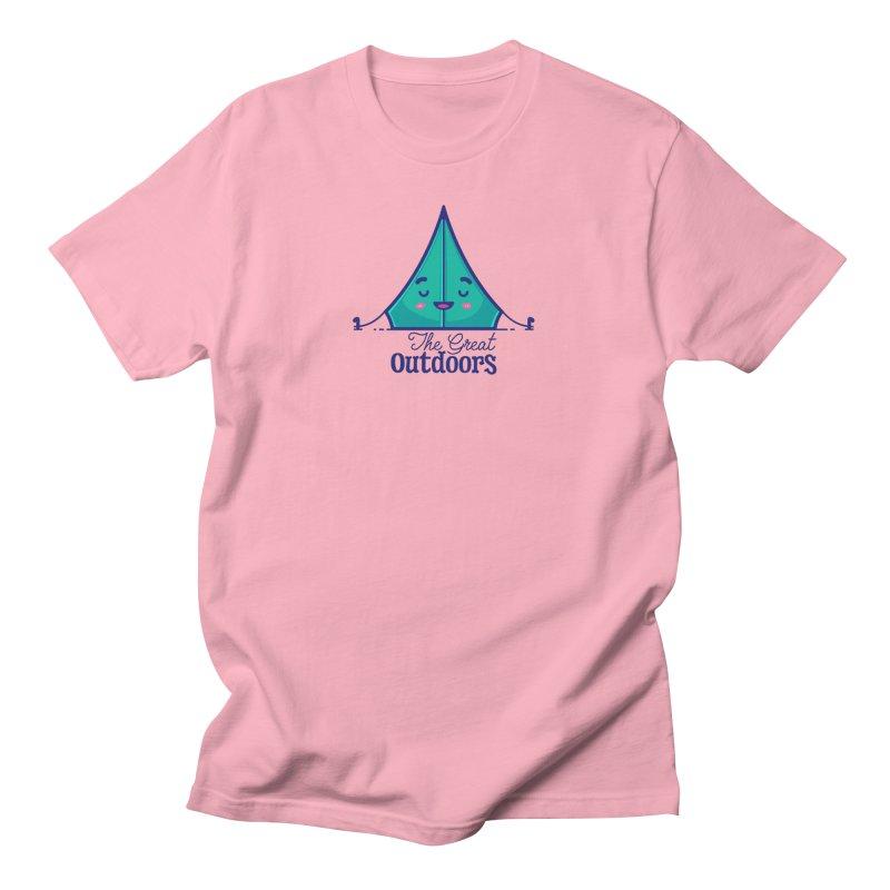 The Great Outdoors – Tent Men's T-Shirt by Bálooie's Artist Shop