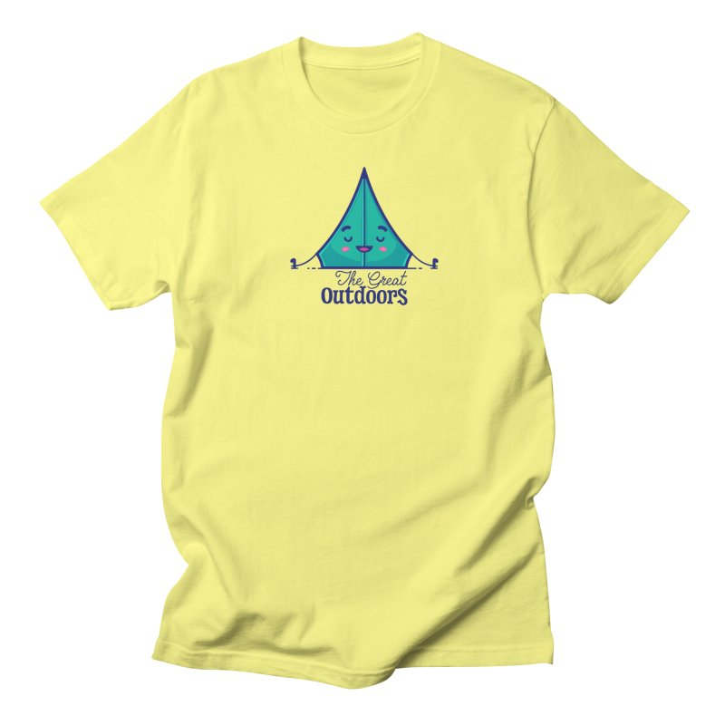 The Great Outdoors – Tent Women's T-Shirt by Bálooie's Artist Shop