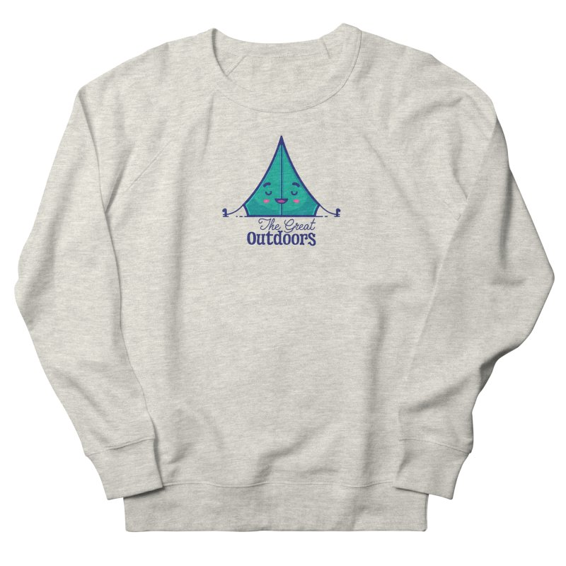 The Great Outdoors – Tent Men's French Terry Sweatshirt by Bálooie's Artist Shop