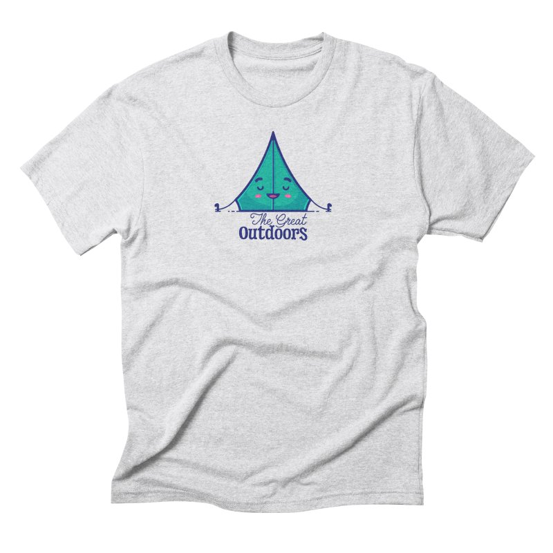 The Great Outdoors – Tent Men's Triblend T-Shirt by Bálooie's Artist Shop