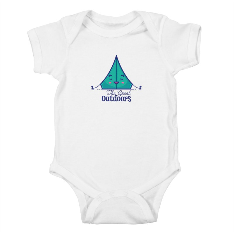 The Great Outdoors – Tent Kids Baby Bodysuit by Bálooie's Artist Shop