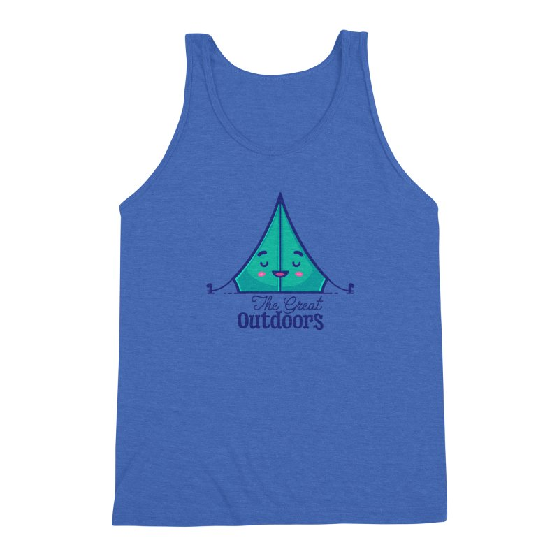 The Great Outdoors – Tent Men's Tank by Bálooie's Artist Shop