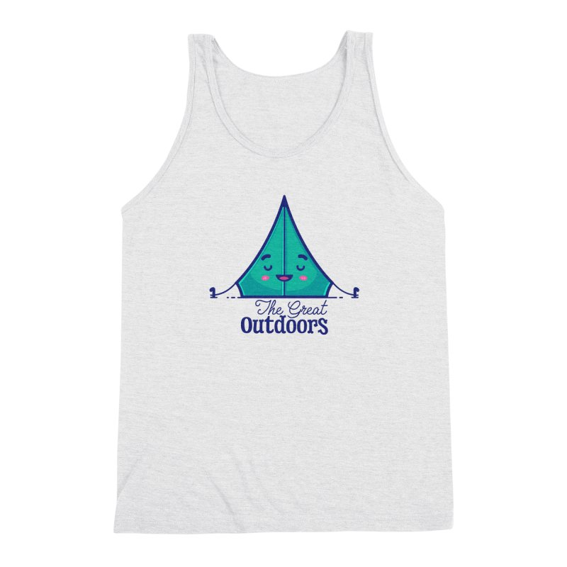 The Great Outdoors – Tent Men's Triblend Tank by Bálooie's Artist Shop