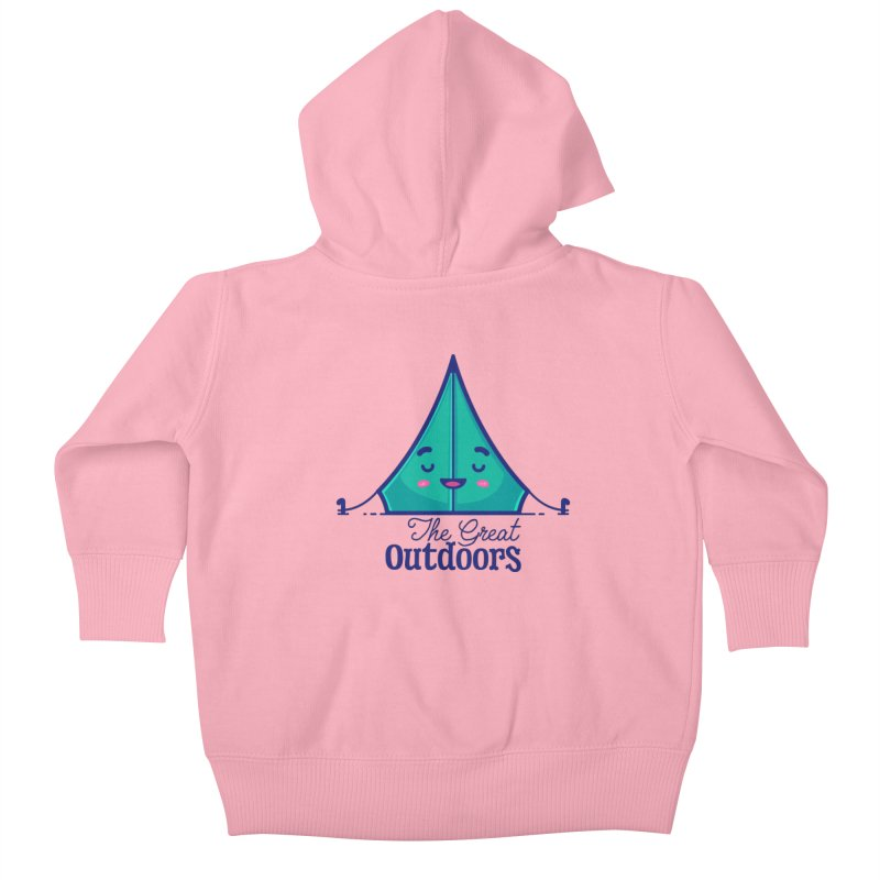 The Great Outdoors – Tent Kids Baby Zip-Up Hoody by Bálooie's Artist Shop