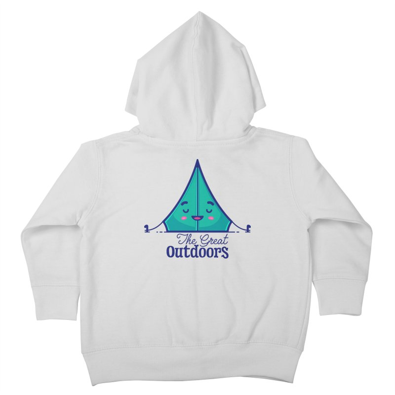 The Great Outdoors – Tent Kids Toddler Zip-Up Hoody by Bálooie's Artist Shop