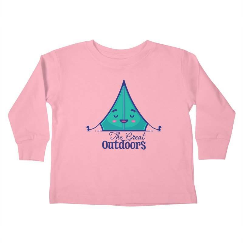 The Great Outdoors – Tent Kids Toddler Longsleeve T-Shirt by Bálooie's Artist Shop