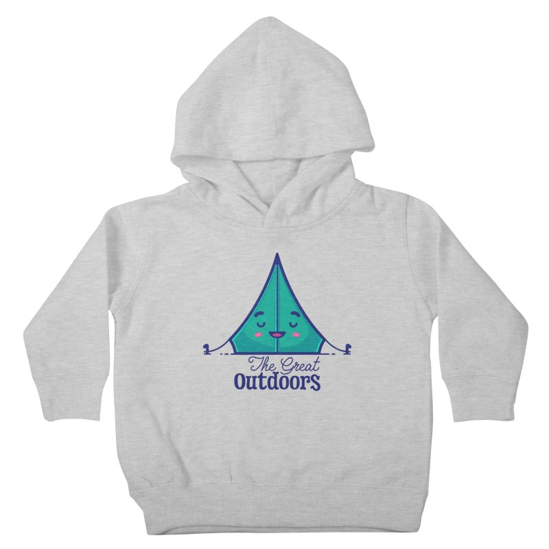 The Great Outdoors – Tent Kids Toddler Pullover Hoody by Bálooie's Artist Shop