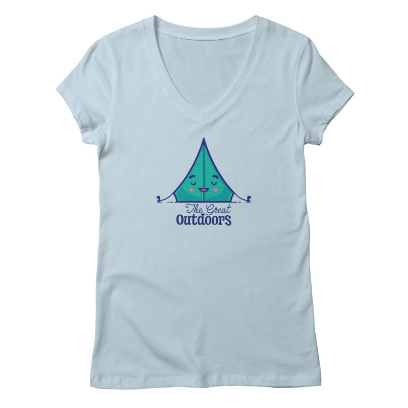 The Great Outdoors – Tent Women's V-Neck by Bálooie's Artist Shop