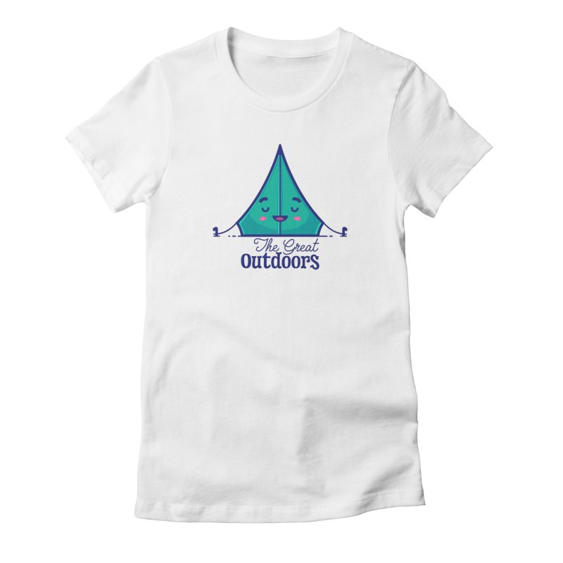 The Great Outdoors – Tent Women's Fitted T-Shirt by Bálooie's Artist Shop