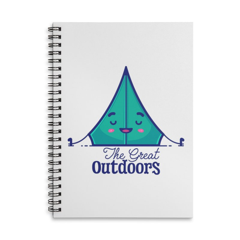 The Great Outdoors – Tent Accessories Notebook by Bálooie's Artist Shop