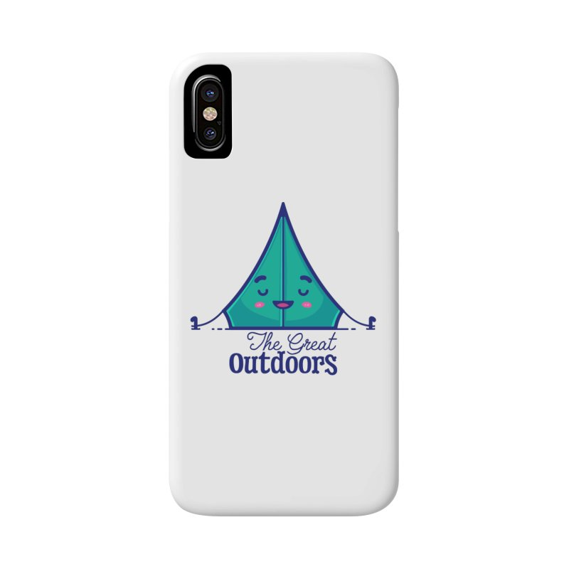 The Great Outdoors – Tent Accessories Phone Case by Bálooie's Artist Shop