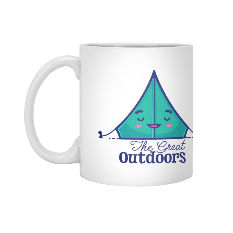 The Great Outdoors – Tent Accessories Mug by Bálooie's Artist Shop