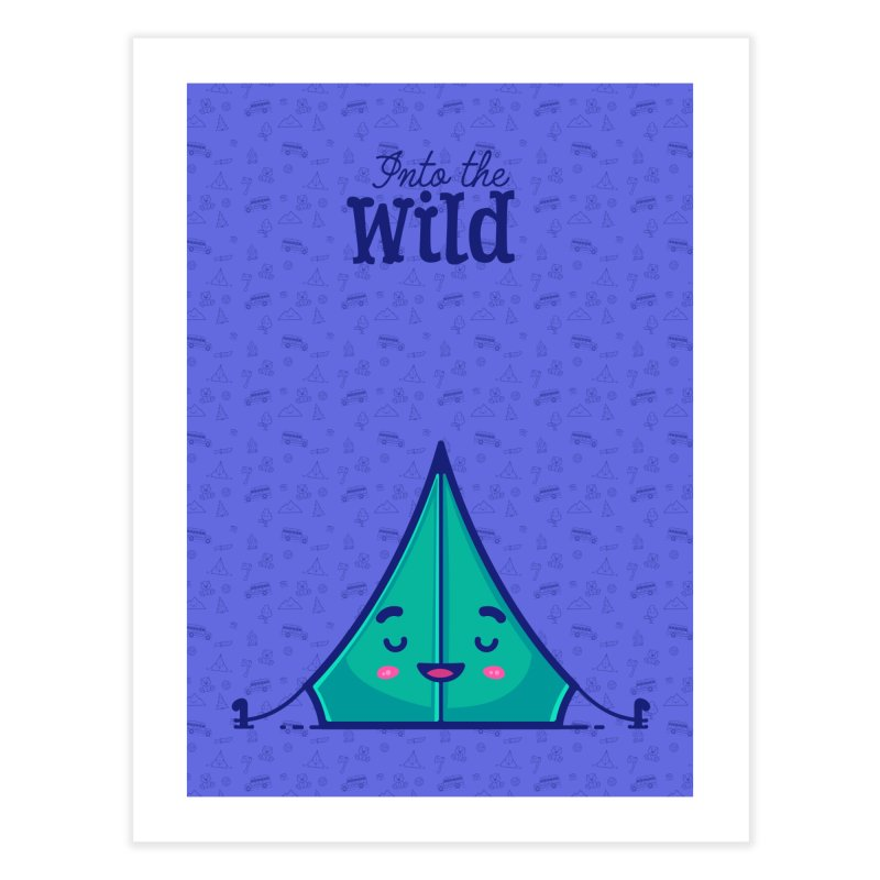 The Great Outdoors – Tent Home Fine Art Print by Bálooie's Artist Shop